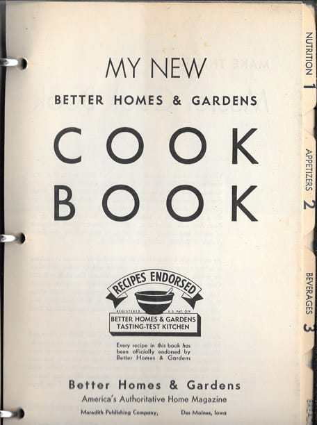 My New Better Homes And Gardens Cook Book