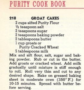 groat-cakes-from-purity-cook-book