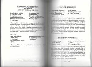Grandma Anderson's Famous Lemon Elegance Pie from Anderson House Cookbook