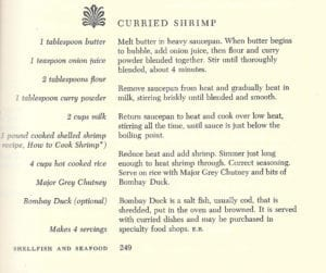 Curried Shrimp from Plaza Cookbook