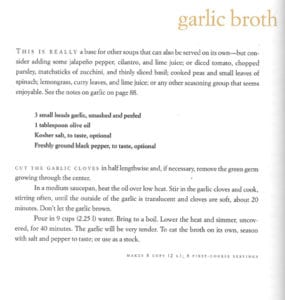 Garlic Broth from Soup A Way of Life
