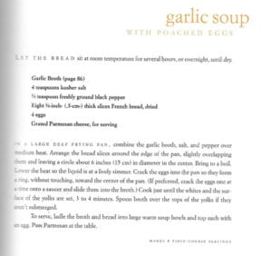 Garlic Broth and Garlic Soup with Poached Egg from Soup: A Way of Life