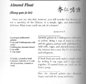 Almond Float from Chan-ese Way