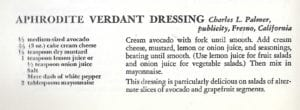 Aphrodite Verdant Dressing from Sunset Chefs of the West