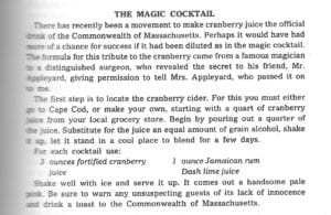 Magic Cocktail from Mrs. Appleyard's Kitchen