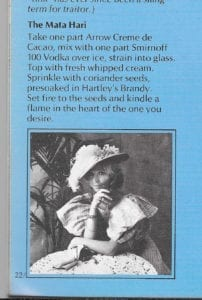 Mata Hari from An Almost Complete Guide to Cordials
