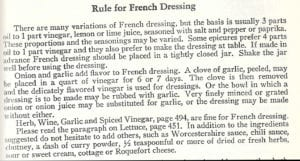 Rule for French Dressing from 1953 Joy of Cooking