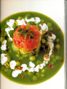 Chilled Sugar Snap Pea Soup from Charlie Trotter's Vegetables