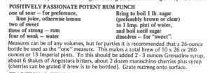 Positively Passionate Potent Rum Punch from Cook Book Ste Lucie