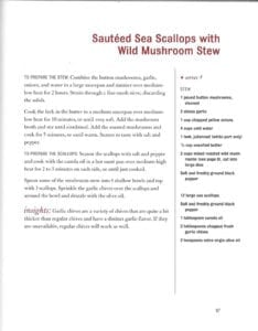 Sauteed Sea Scallops with Wild Mushroom Stew from Charlie Trotter Cooks at Home
