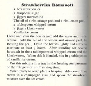 Strawberries Romanoff from Farmers Market Cookbook